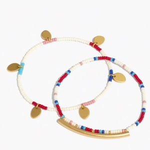 Madewell Two-Pack Seed Bead Charm Bracelets